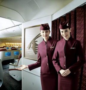 Hôtesses de l'air Qatar Airways