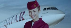 Hôtesse de l'air Qatar Airways
