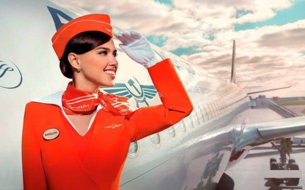 Hôtesse de l'air Aeroflot © Aeroflot
