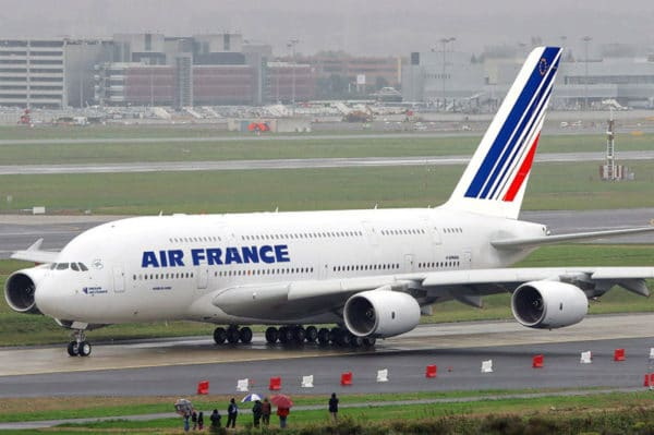 Air France; son A380 à Shanghai