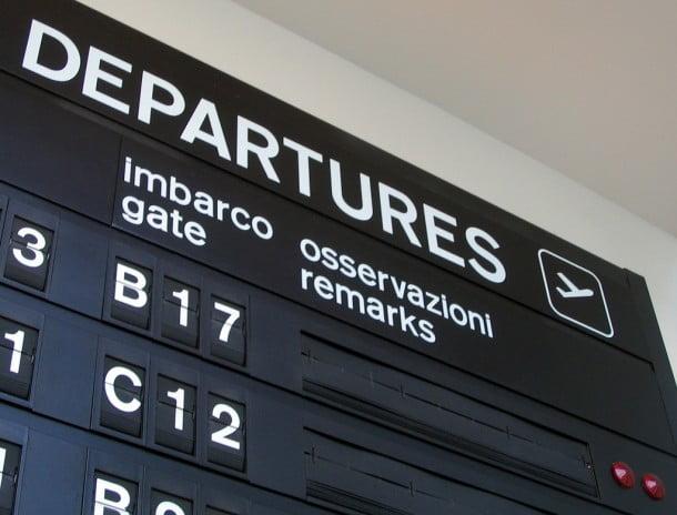 Panneau aéroport