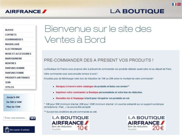 Boutique Duty Free Air France