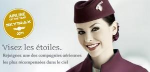 Hôtesse Qatar Airways © Qatar Airways