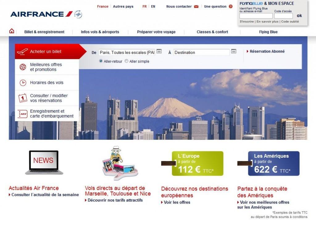 Nouveau site airfrance.fr