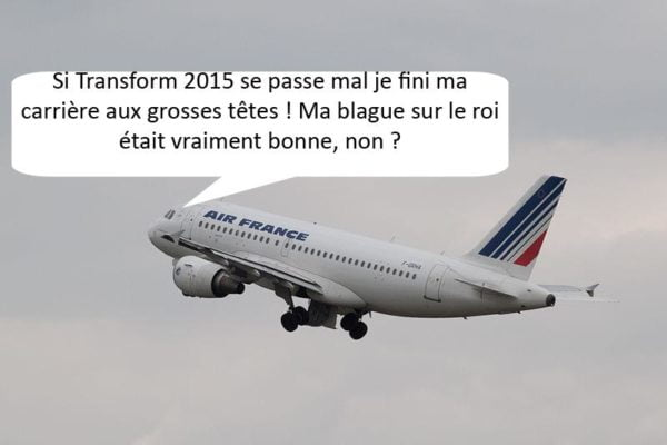 Chez Air France on a de l'humour, ou pas…