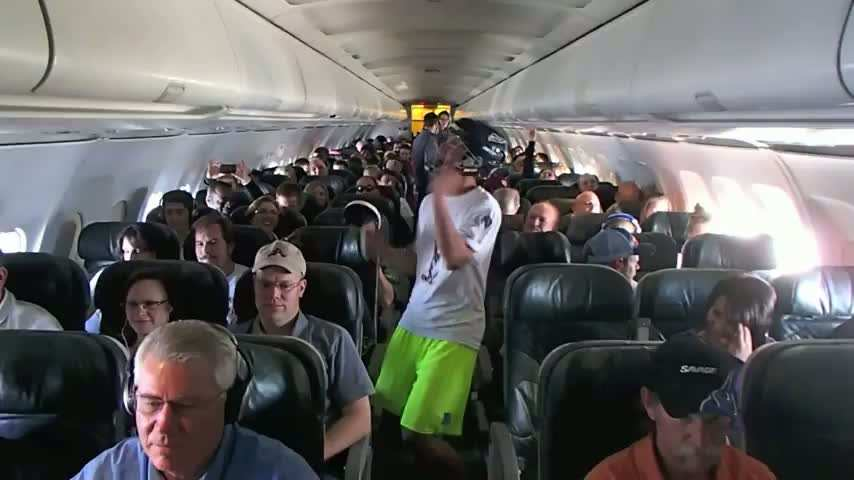 Harlem Shake dans un avion