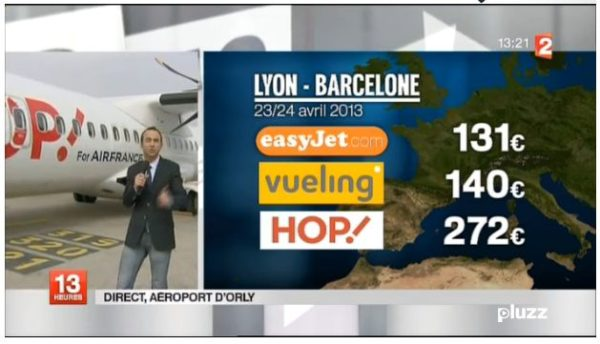 France 2 «flingue» Hop en direct !