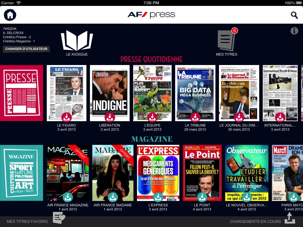 Air France, la presse sur iPad
