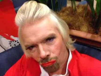 Richard Branson hôtesse de l'air