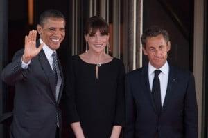 Obama & le couple Sarkozy (Nicolas et Carla)