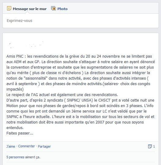 Air France; rumeur et sortie de grève