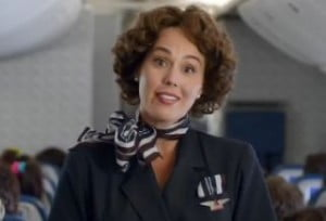 Delta Airlines flight attendant in the 80's