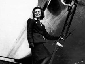 Madeleine Thiphouse, hôtesse de l'air en 1946 © DR