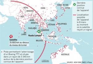 localisation mh370