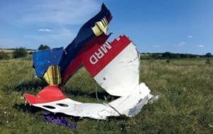 Une partie du revêtement de l'arrière du fuselage du 777 de Malaysia Airlines © Dutch Safety Board