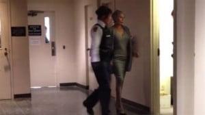 Harlle McBride lors de son arrestation © DR
