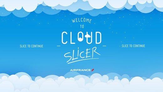 Découpez des nuages avec Air France