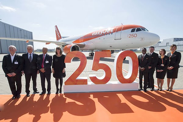easyJet, 250 Airbus A320 !