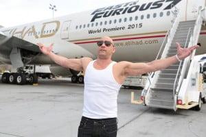 Vin Diesel et Etihad © DR