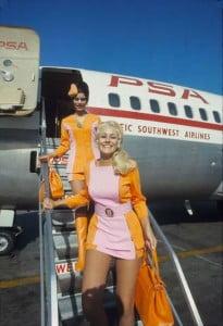 hotesse de l'air pacific southwest airlines 1970