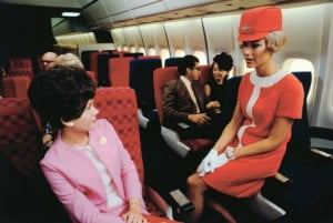 hotesse de l'air united airlines 1969