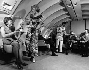 hotesse de l'air united airlines 1970