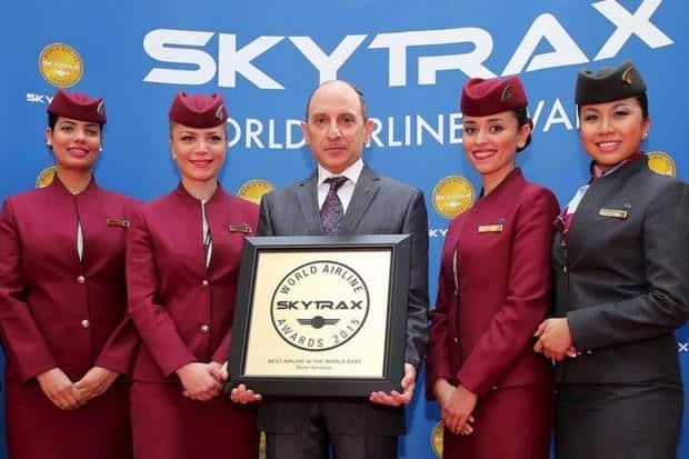 Skytrax 2015, Qatar Airways et Air France
