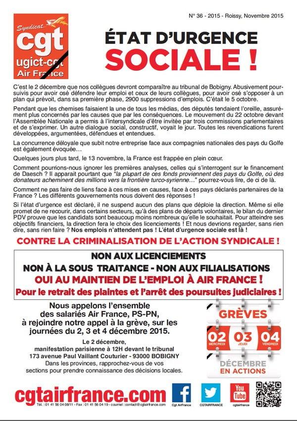 Air France, CGT et Daesh…