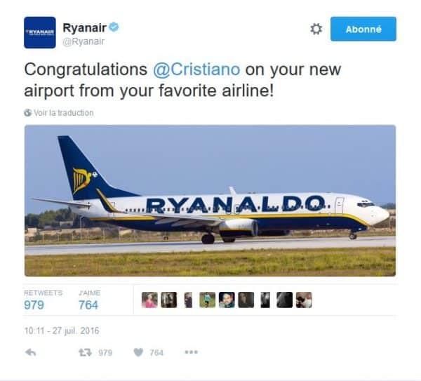 Ryanair et Ronaldo