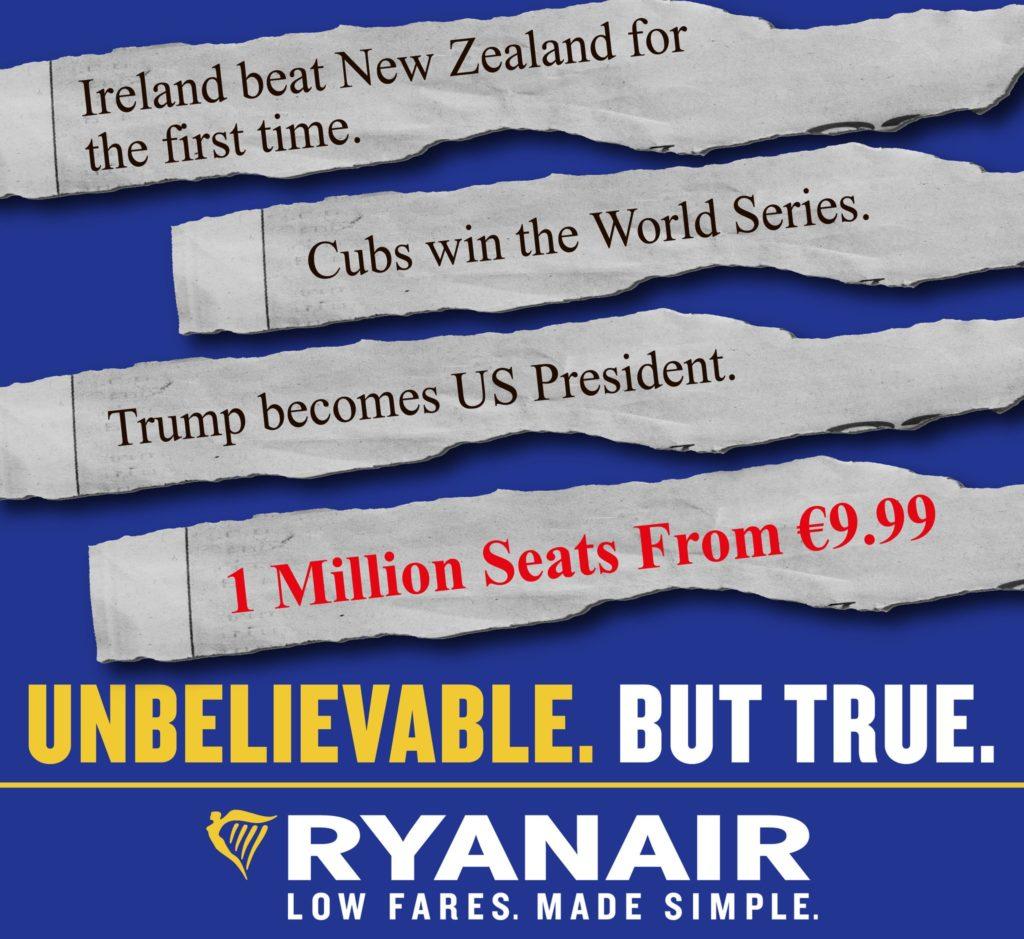 Ryanair surf sur Trump