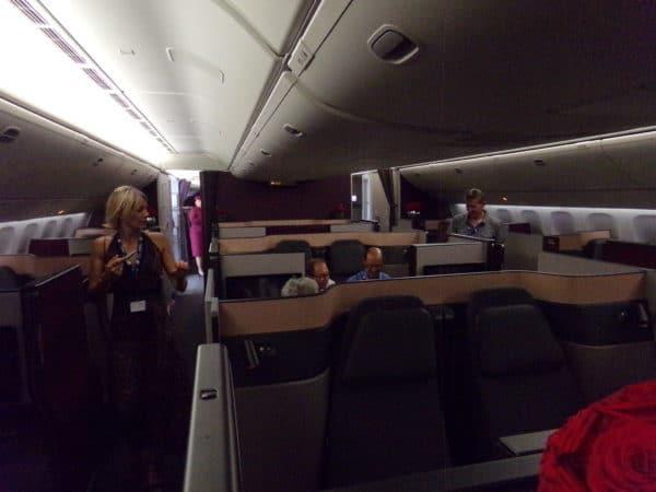 La QSuite de Qatar Airways au Bourget 2017