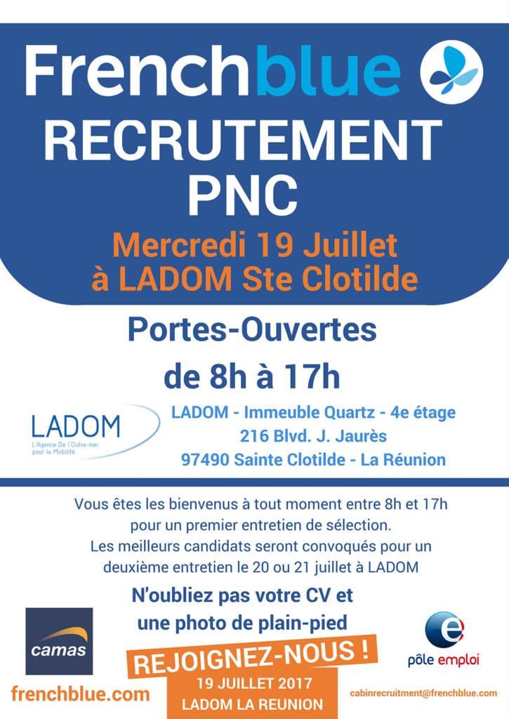 French blue recrute à La Réunion le 19 juillet !