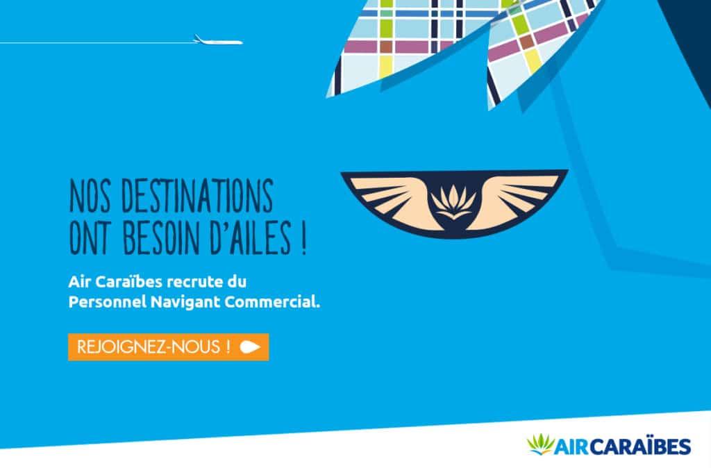 Air Caraïbes recrute des hôtesses de l'air