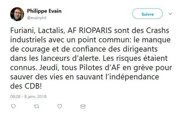 Air France, grève du 11 janvier