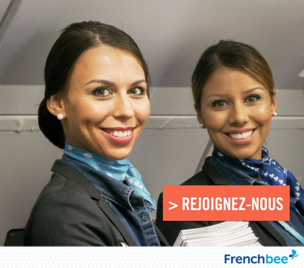 Recrutement hôtesses de l'air et stewards French bee