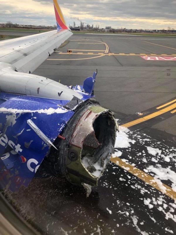 Explosion d'un moteur en vol
