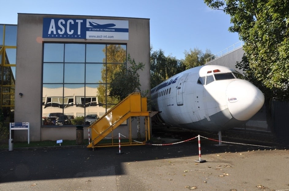 Fuselage Boeing Air France accidenté