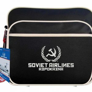 Soviet Airlines Flight Travel Bag