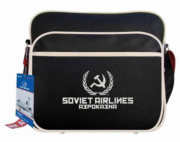 Soviet Airlines Flight Travel Bag