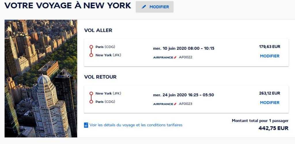 Billet Air France